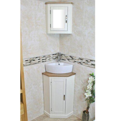 Belfry Bathroom Cousin Compact Solid Oak 390mm Free Standing Vanity Unit In 2021 Washbasin Design Corner Bathroom Vanity Small Bathroom Decor