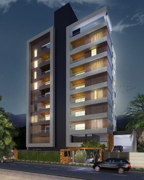 Fachada noturna pr dio multifamliar pinterest 3d for Fachadas para apartamentos pequenos