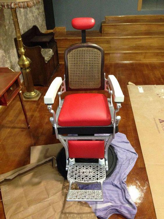sillon barbero restaurado