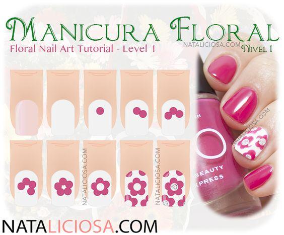 Si te gustan las uñas con flores no te pierdas este tutorial. Haz click en la foto, ¡te explico todo lo que necesitas saber!