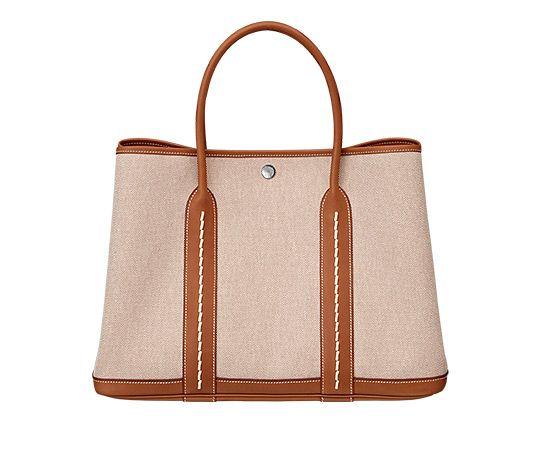 discount hermes handbags - Garden Party Hermes bag in ecru/beige H viking canvas with natural ...