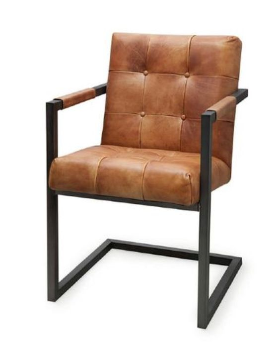 Leder stoel Badsaal (7067) #Pakhuis3 #Stoel #Eetkamerstoel  Stoelen ...