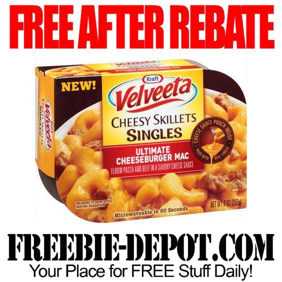 FREE AFTER REBATE – Velveeta Skillet Singles - Exp 5/24/14
