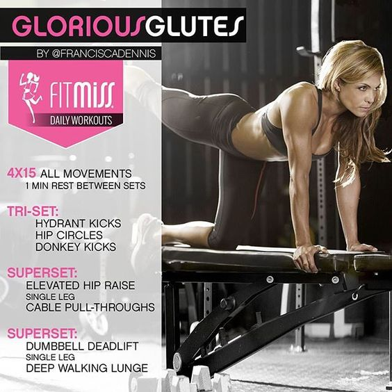#FitMiss Daily Workouts!  Glorious Glutes  #BeStrong: