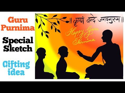 Easy drawing for Guru Purnima Teacher student easy sketch Gifting idea for students Procreate YouTu Teachers day drawing Drawing for kids Easy drawings