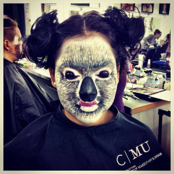 Koala makeup on Sarah