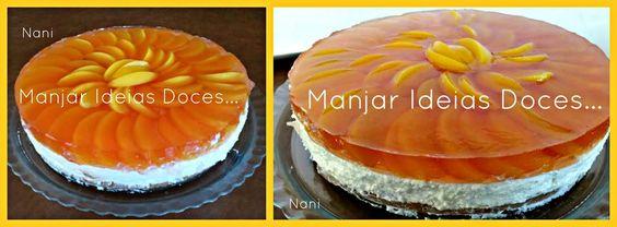 Tarte de Queijo e Pêssego - http://gostinhos.com/tarte-de-queijo-e-pessego/
