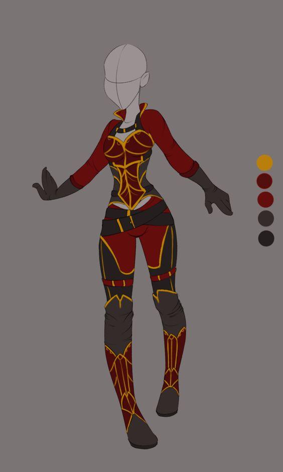 Commission April 02 Outfit Design  By VioletKy.deviantart.com On @DeviantArt | Drawing ...