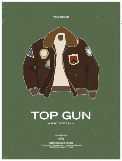 Minimalist movie poster. Top Gun