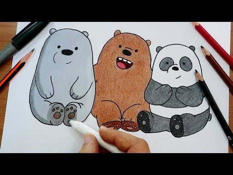 رسم الدببة الثلاثة شهاب قطبي باندا Drawing We Bare Bears Youtube Art Character Fictional Characters