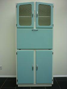 Vintage kitchen larder cabinet freestanding kitchenette for Kitchenette cupboard
