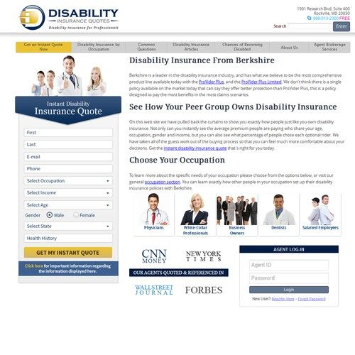 New Quote Tool Design Sale Of Disability Insurance To White Collar