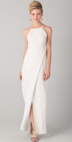 Yigal Azrouel: Slit Gown with Open Back  Totally in love with this dress!