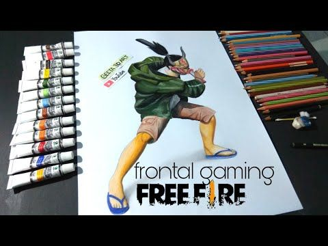 Menggambar Set Frontal Gaming Free Fire Youtube Gambar Cat Air