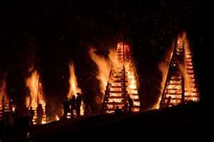 Christmas bonfires along the levees in the River Parishes.