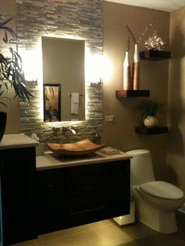 Floating led bath spa lights vanities tile mirror and tile for A j salon chicago