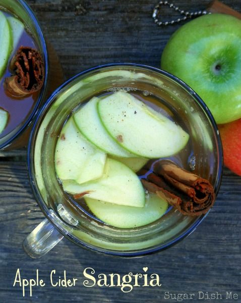 Apple cider sangria, Apple cider and Sangria on Pinterest