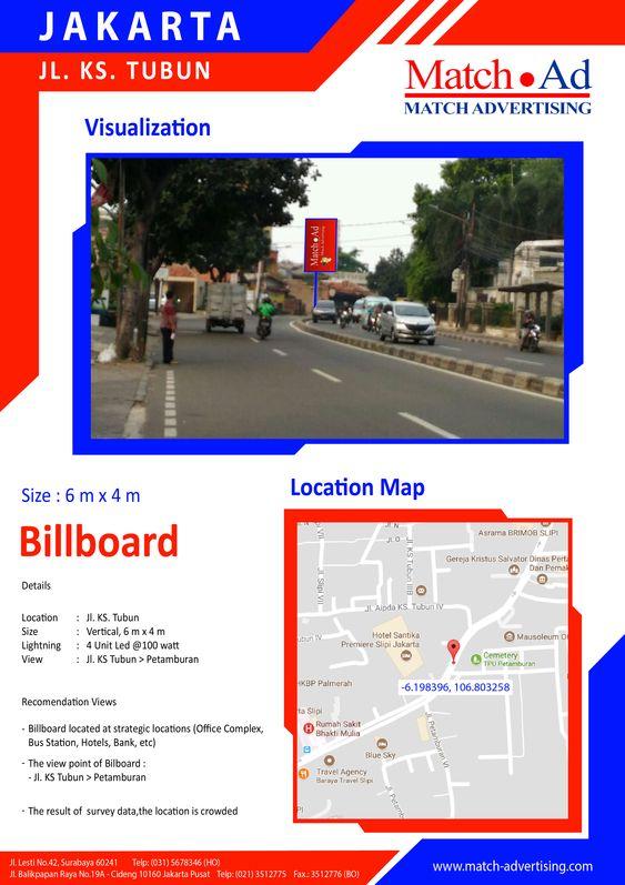 Jakarta Barat, Jl. KS. Tubun - Baliho 6x4