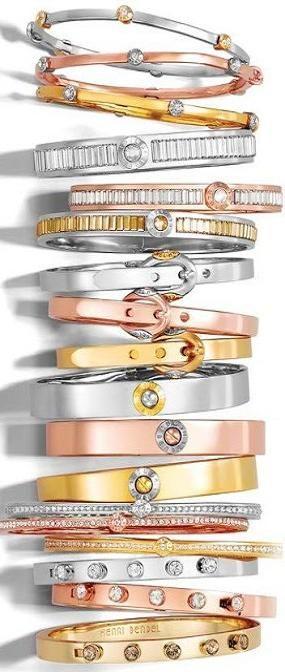 Henri Bendel metal bracelet stacks Bangles ♥✤ | KeepSmiling | BeStayClassy