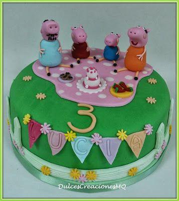 Tarta pastel cake torta peppa pig cerditos ni a ni o - Bizcocho de cumpleanos para ninos ...