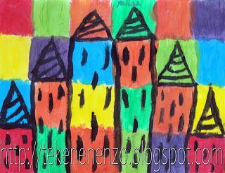 Benodigdheden: tekenpapier op A4 formaat of groter plakkaatverf in geel, rood, blauw en zwart liniaal potlood kwasten  Ton Schulten (1938) is een Nederlandse schilder.    De leerlingen verdelen het vel tekenpapier in 24 vakken (4 bij 6). Met de primaire kleuren geel, rood en blauw en de mengkleuren hiervan, worden de vakken geverfd. Geef als opdracht mee dat elke kleur maar drie keer mag voorkomen.