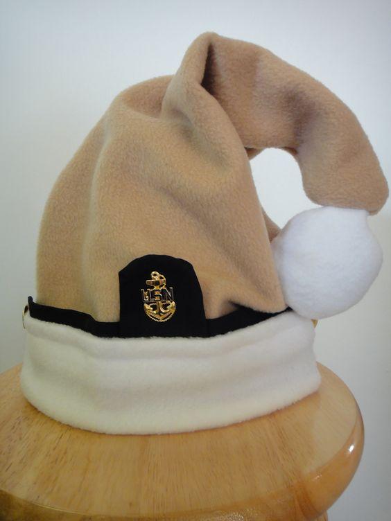Navy Chief Santa hat, original creation by Squadron Quilts http://www.ebay.com/itm/Navy-Chief-Santa-hat-/181277450995?pt=LH_DefaultDomain_0&hash=item2a34fa62f3
