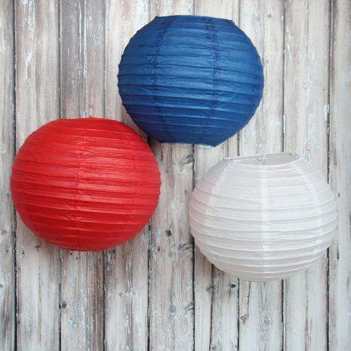 Paper Lanterns - 4th of July - Set of 3 $6