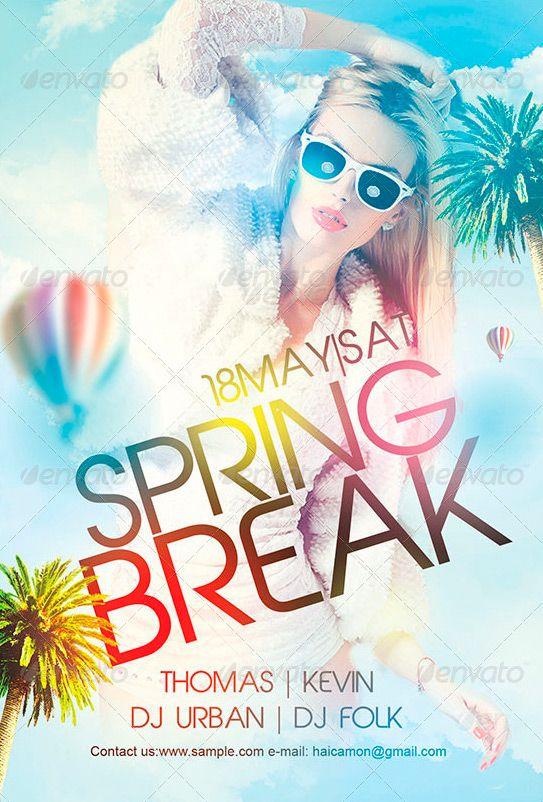 Spring Break Flyer Template - http://www.ffflyer.com ...