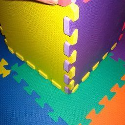 Wonder Mat Non-Toxic Non-Recycled Extra Thick Rainbow Foam, 6 Colors, 36 Pieces