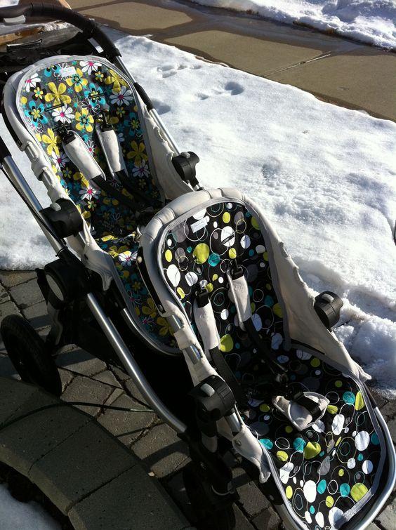 Custom City Select Reversible Stroller liners. $50.00, via Etsy.