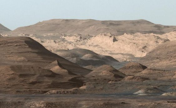 Curiosity's view of Mount Sharp, taken with the MastCam on Sept. 9th, 2015. Credit: NASA/JPL-Caltech/MSSS