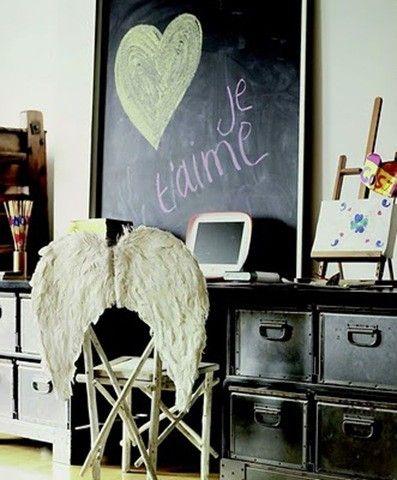 angel wing office chair - via RueVintage74