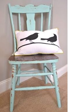 I might redo my kitchen chairs this way