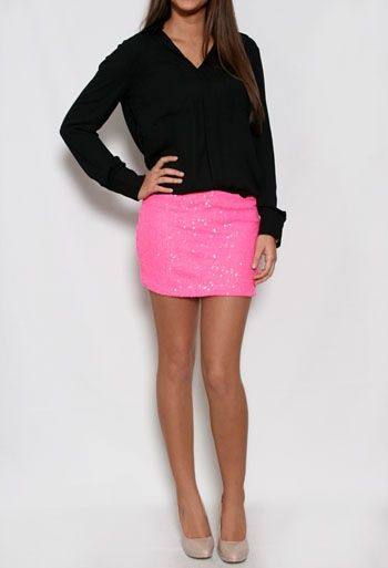 Short Sequin Mini Skirt #PrivateGallery #PGPackingList | Nails ...