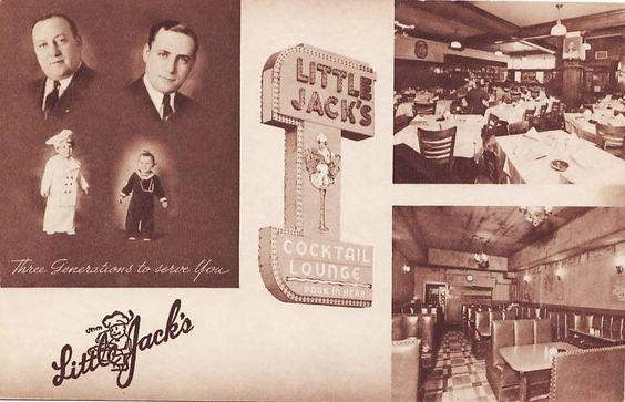 LITTLE JACK'S RESTAURANT - 3175 WEST MADISON AT KEDZIE - FOUR IMAGES PLUS LOGO