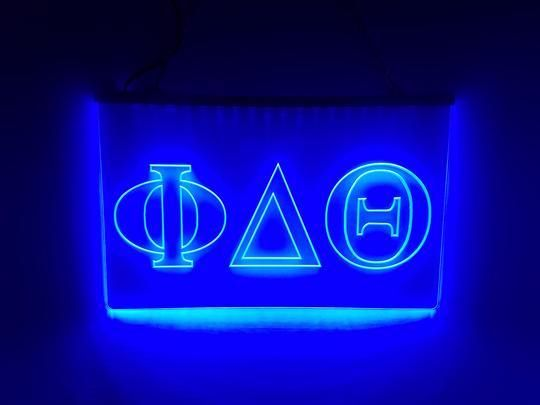 Alpha Sigma Phi LED Sign Greek Letter Fraternity Light