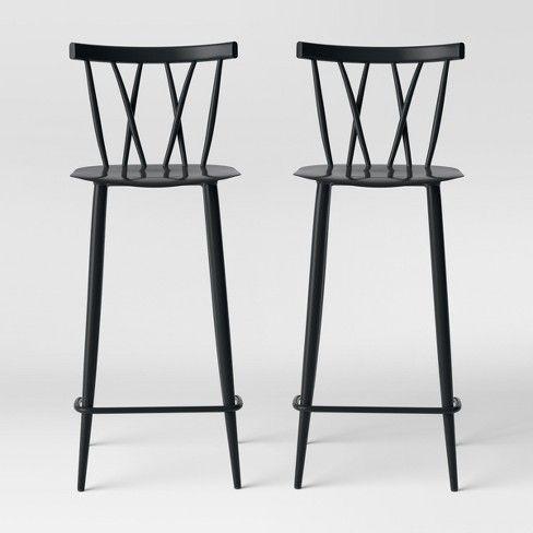 Remarkable Set Of 2 Becket Metal X Back Barstool Project 62 Target Creativecarmelina Interior Chair Design Creativecarmelinacom