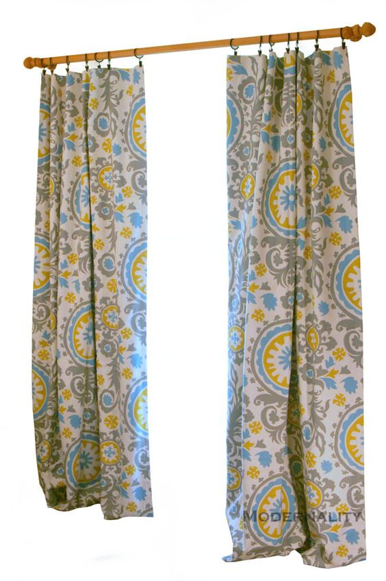 CLEARANCE Citrine Curtains- Pair of Drapery Panels- Premier Prints ...