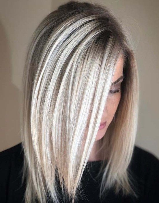Natural Icy Blonde Hair Colors For Medium Length Hair Hair Styles Long Hair Styles Medium Hair Styles