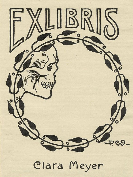 Ex Libris Clara Meyer Artist P.W. from Pratt Libraries
