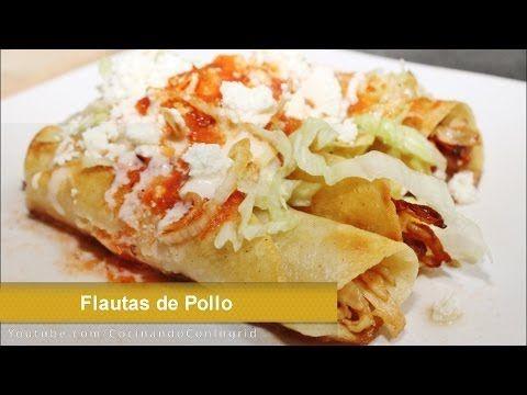 TACOS DORADOS - FLAUTAS DE POLLO - RECETA FACIL - YouTube