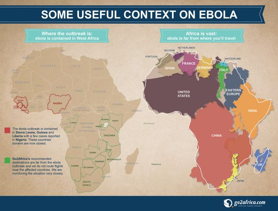 Some useful context on Ebola and how big Africa is. #Africa ...