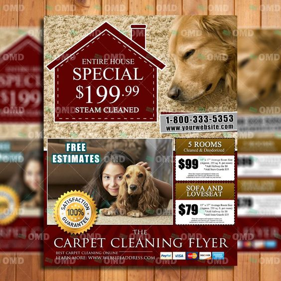 Upholstery Cleaning Flyer Template - Ready In 24hrs - Carpet ...