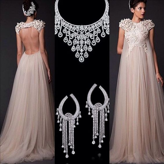 «Krikor Jabotian  Farah Khan  #fashion #highfashion #stylefashion #style #styles #wedding #jewelry #jewellery #diamands #necklace #earring…»