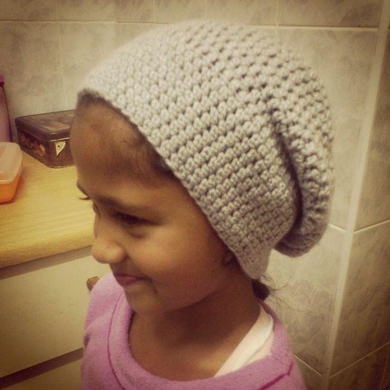 Aaliyah wearing her #NiftyNadi slouchy beanie
