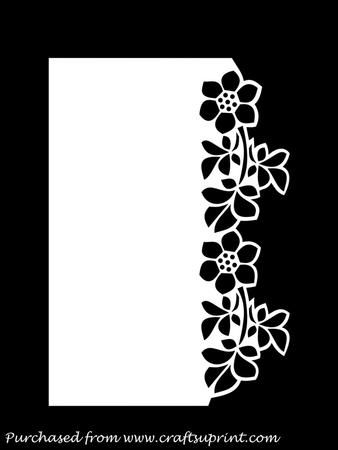OVER THE EDGE FLORAL BORDER GSD PDF SVG on Craftsuprint designed by Apetroae Stefan - In gsd, pdf and svg format, with optional backing plate - Now available for download!: