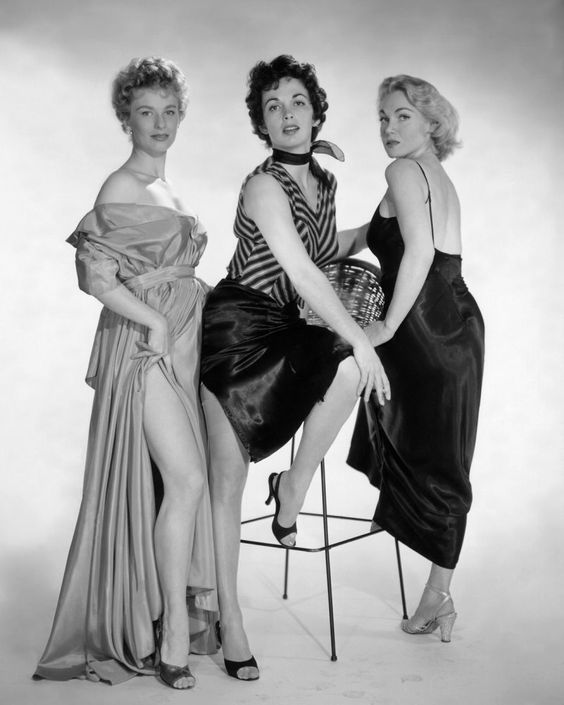 Cloris Leachman, Maxine Cooper & Marian Carr, the female stars of Kiss Me Deadly (1955), an excellent, rather outrageous film noir by Robert Aldrich