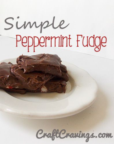 Simple Peppermint Fudge. Only a few ingredients and delicious!