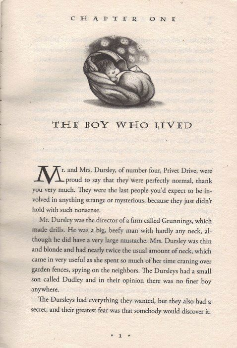 The Boy Who Lived First Page Harry Potter Love Harry Potter Obsession Harry Potter