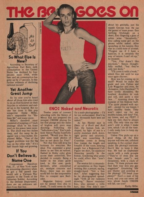 That time Brian Eno posed nude for Bob Guccione | Dangerous Minds